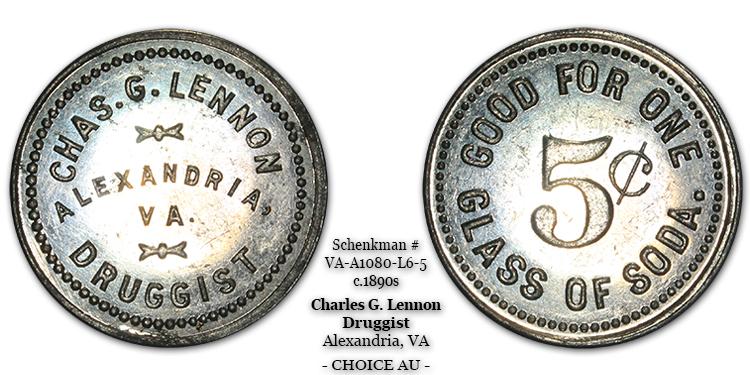 VA-A1080-L6-5 Charles G. Lennon Soda Water
