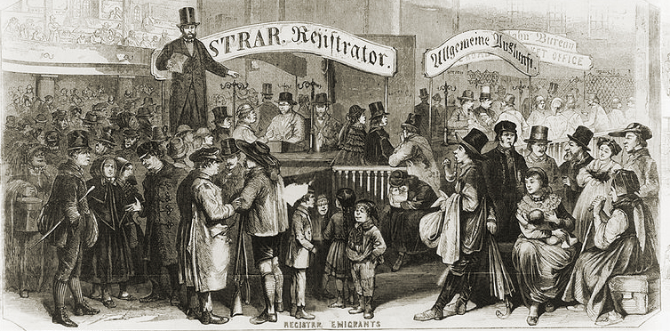 Immigrants Arriving at Castle Garden, circa 1863