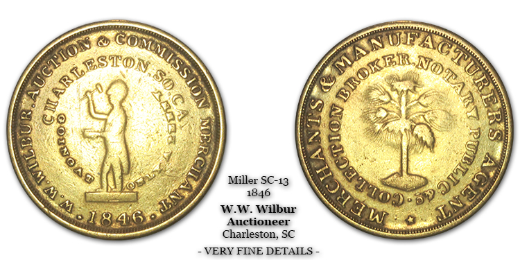 SC-13, Obverse-4 (Without Period), Reverse-B (Bushy Tree), Brass