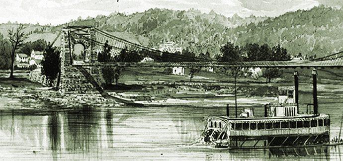 Wheeling West Virgina Suspension Bridge